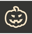 Flat in black and white mobile application pumpkin