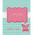 greeting baby card - with place for your photo and vector image vector image