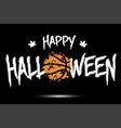 happy halloween and basketball ball of blots vector image vector image