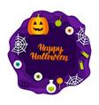 happy halloween papercut concept vector image vector image