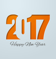 Happy New Year 2017 Cut Paper Background vector image