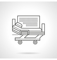 Hospital bed flat line icon vector image vector image