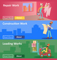 house construction and repair work flat vector image
