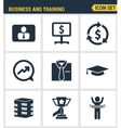 Icons set premium quality of corporate management vector image
