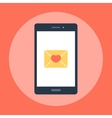love message on phone vector image vector image