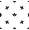 maple leaf pattern seamless black vector image vector image