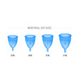 menstrual cup set 3d realistic female intimate vector image vector image