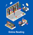 online reading and parts isometric view vector image vector image