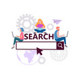 online search concept search engine optimization vector image vector image
