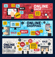 online shop e-commerce web store and retail vector image vector image