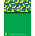 Page with brazilian colors vector image vector image