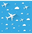 Planes in the cloudly sky vector image