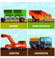 potato production flat design concept vector image vector image