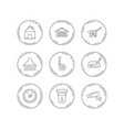 real estate garage and heat regulator icons vector image vector image