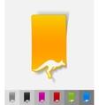 realistic design element kangaroo vector image vector image