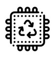 recycle processor icon outline vector image vector image