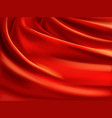 red silk with creases realistic background vector image vector image