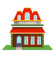 restaurant facade isolated icon vector image