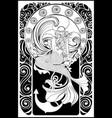 retro mermaid poster vector image