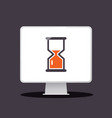 sand clock - hourglass icon on computer app icon vector image vector image