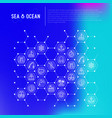 sea and ocean journey concept in honeycombs vector image vector image