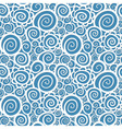 Seamless abstract curly wave pattern vector image vector image