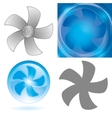 Set of fan elements vector | Price: 1 Credit (USD $1)