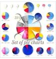 Set of pie charts vector image