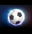 soccer ball with electric discharges and lightning vector image