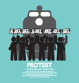 train workers strike and protest symbol vector image vector image