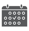 training schedule glyph icon sport and organizer vector image vector image