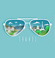 travel to paris paper cut vector image vector image