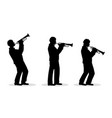 trumpet men vector image