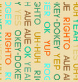 typography coloured agreement words seamless vector image