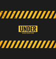 under construction background with black and vector image