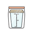 urine collection container in sealed plastic bag vector image vector image