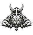 vintage concept strong viking warrior vector image