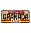 welcome to granada vintage rusty metal sign vector image vector image