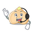 with headphone chickpeas mascot cartoon style vector image vector image