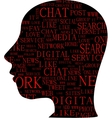 Word cloud tag cloud text business concept Head vector image