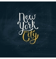New York City Concept on Green Board vector image