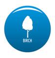 birch tree icon blue vector image