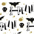 hand drawn abstract seamless halloween vector image