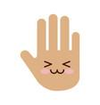 hand human stop kawaii character vector image