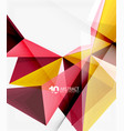 3d triangle polygonal abstract vector image