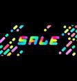 a set of sale multicolor memphis patterns banner vector image