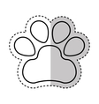 Animal footprint isolated icon vector image