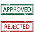 Approved Rejected vector image