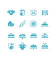 baby diaper production characteristics icons soft vector image vector image