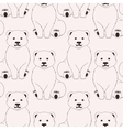Bears pink seamless pattern on neutral background vector image vector image
